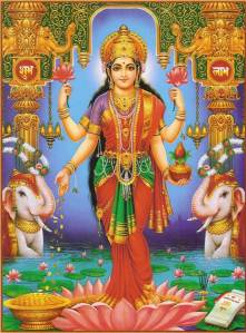 Lakshmi, Hindu Goddess of Good Fortune